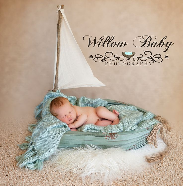 Newborn sailing photo newborn baby in boat www.willowbabyphotography.com