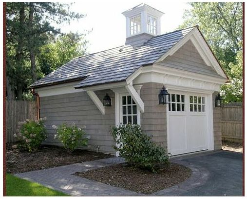 Detached detailed garage.