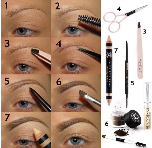 How To Shape Eyebrows With Eyebrow Kit Makeup Pinterest