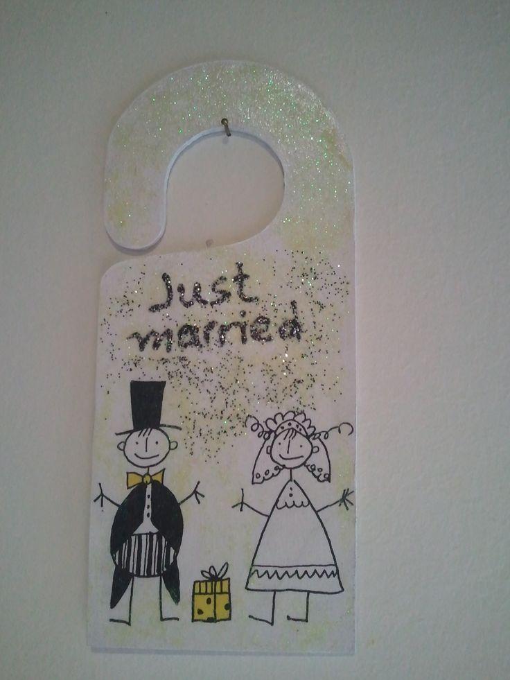 just married for the door
