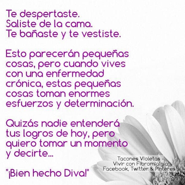 Bien hecho Diva!  #Fibromialgia  #Dolor #crónico #Diva