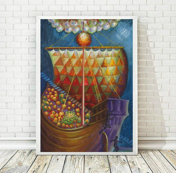 Ship Art Print Printable Art Inspirational Art Home Decor