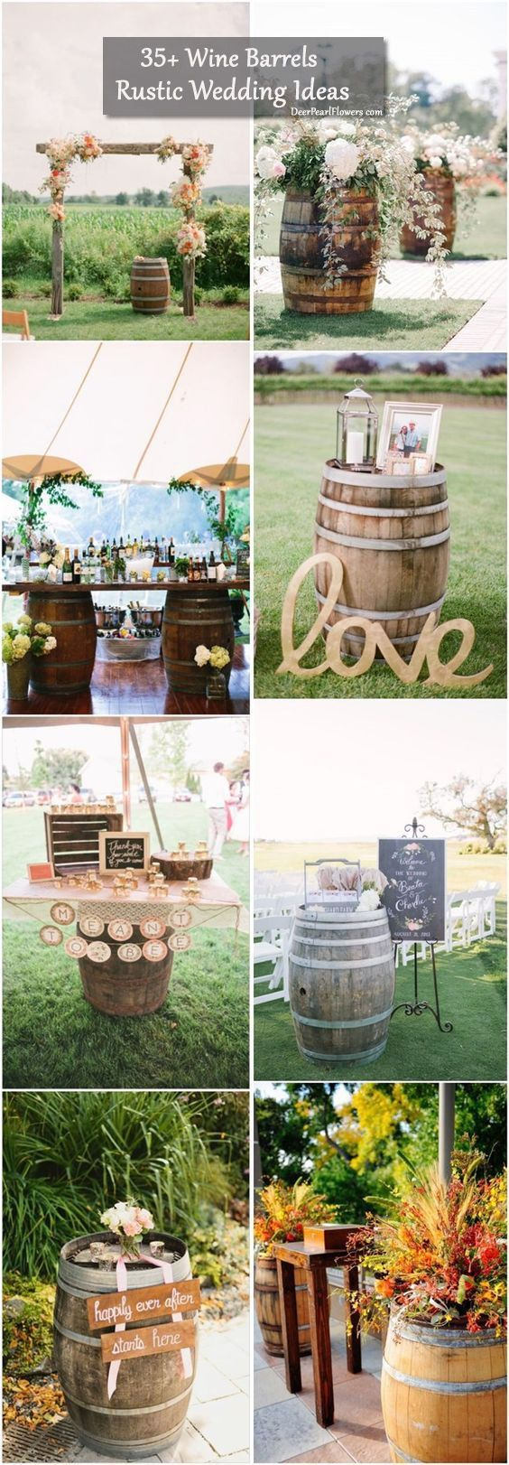 Gallery: Rustic Country Wedding Ideas to Use Wine Barrels - Deer Pearl Flowers / http://www.deerpearlflowers.com/35-creative-rustic-wedding-ideas-to-use-wine-barrels/rustic-country-wedding-ideas-to-use-wine-barrels/