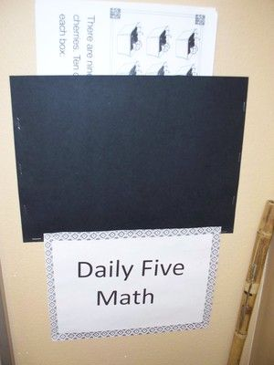 Daily Five Math resources- I like hoe she organizes her math block. I am going to see if I can do this!