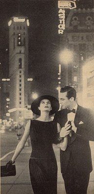 1950s fashion photo, could be recreated for bride and groom photo shoot that couples take before their wedding