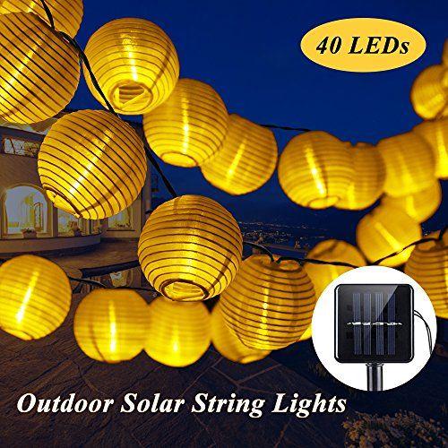 SOLMORE 8M Guirlande Lanterne Solaire Extérieur 40 LED 2 Mode ...