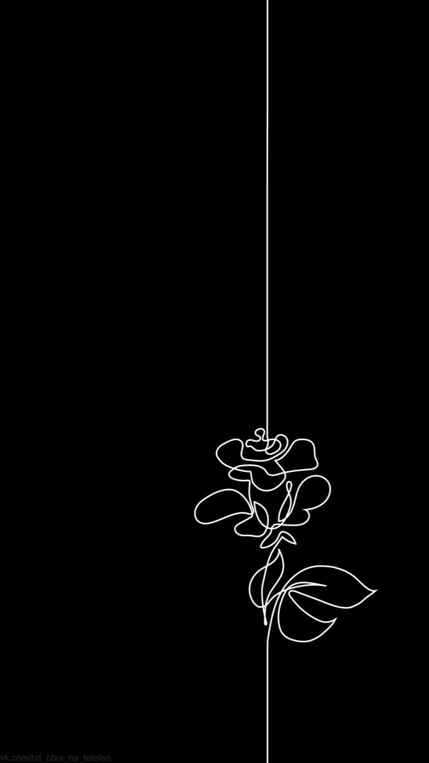 Pin By Estetika On Oboi Na Chyornom Fone Line Art Drawings Dark Wallpaper Iphone Minimalist Wallpaper
