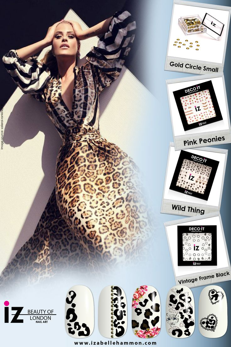 Leopard Nails : iZ Beauty of London Deco iT Nail decals