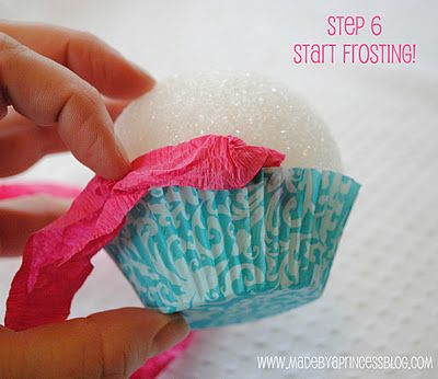 "How to make a pretty ""pretend"" cupcake by ""Made by a Princess"""