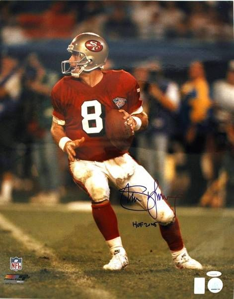 "Steve Young San Francisco 49ers Autographed 16x20 Photo Inscribed """"HOF 2005"""" https://www.fanprint.com/licenses/san-francisco-49ers?ref=5750"