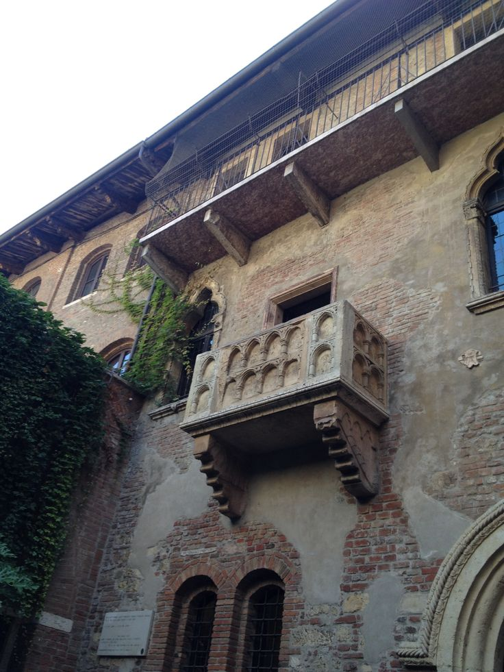 The balcony in Juliet house of Verona features where Romeo promised Juliet eternal love in Shakespeare's tragedy.
