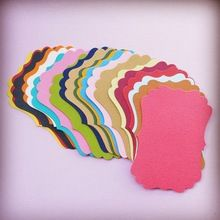 Mixed Colorful Gift Cards Tags with Swirl Edges for Scrapbooking Paper Crafts/Card Making/Wedding Decorations/Photo Album(China (Mainland))