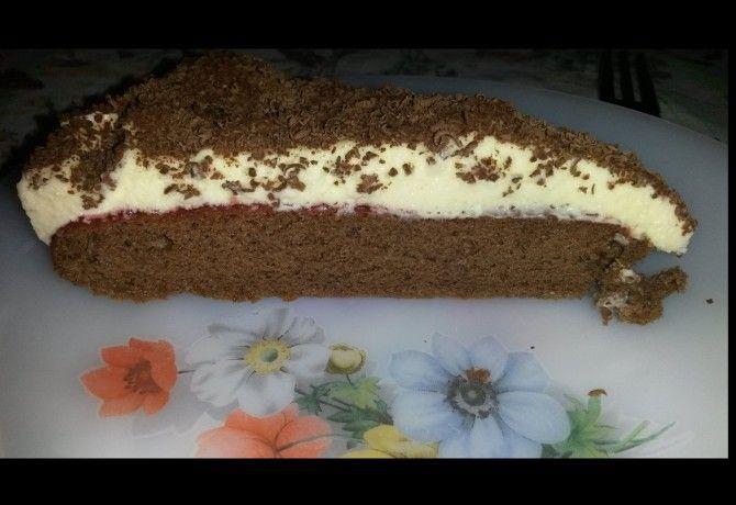 Pudingos-ribizlis torta