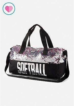 Softball Flip Sequin Duffle Bag
