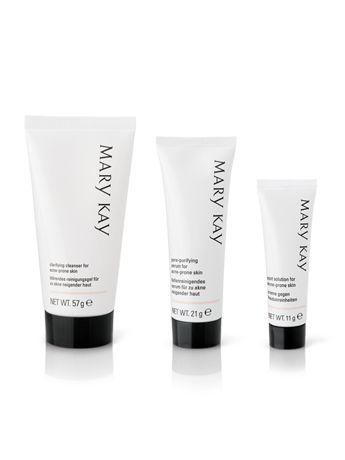 Obtén todos los beneficios antiacné del Sistema para el Acné Mary Kay® en un set de prueba. El Sistema para el acné:  Ayuda a eliminar el exceso de grasa. Ayuda a prevenir futuros brotes. Ayuda a minimizar la apariencia de los poros. Ayuda a reducir los brillos. Adecuado para piel sensible.