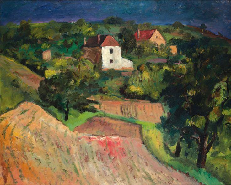 EMIL FILLA (Czech 1882–1953) Landscape, c.1906