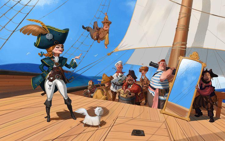 Сообщество иллюстраторов | Иллюстрация The captain was unlike her