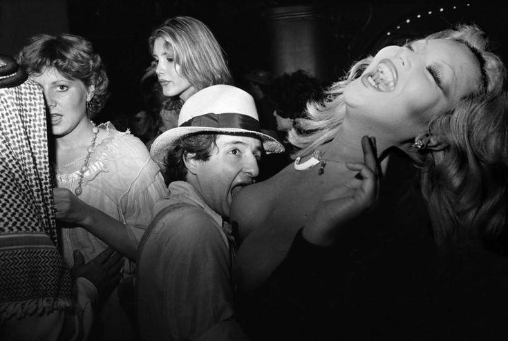 """Paris 9th arrondissement, 8 rue de Faubourg Montmartre. The third Thursday of Lent, there's a party with the theme of the seven deadly sins at the """"Palace."""" March 13, 1980"""