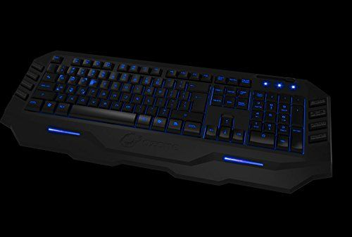 Ozone Gaming Blade LED RedBlue Backlit Membrane Keyboard with 10 Macro Keys128kb onboard Memory -- Check out this great product.