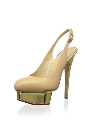 21% OFF Charlotte Olympia Women's Slingback Platform (Nude)