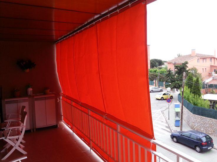 Toldo tipo cortina corredera para balcones toldos para for Toldos para balcones precios