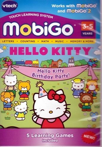 VTech Hello Kitty Birthday Party MobiGo Touch Learning Game Software (3-5 Years)