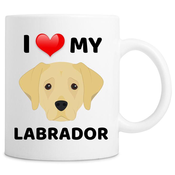 I Love My Labrador Dog Quote Novelty 11oz Ceramic Coffee Mug