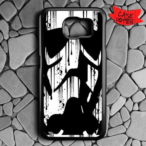 Black White Storm Trooper Samsung Galaxy S6 Black Case