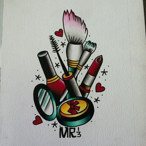 makeup tattoo design