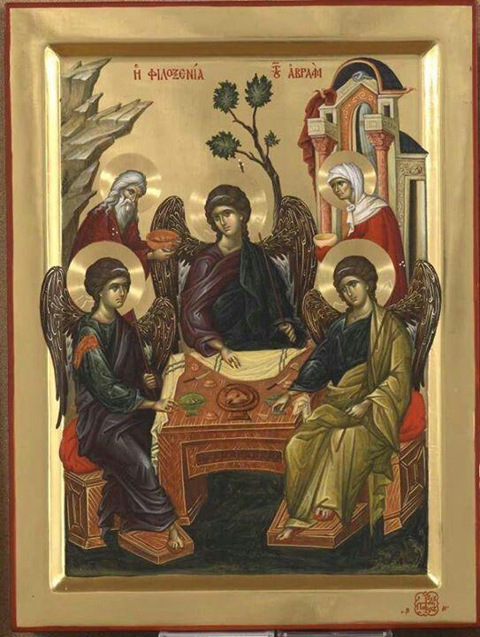 La Trinidad , Abraham ySara. Icono, Monte Athos.