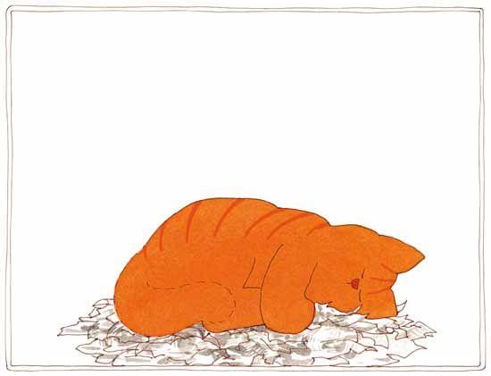 Prent 6 - Er lekker in liggen slapen, natuurlijk! Zo, dat is wat Dikkie Dik met een krant doet. Dag, krant!