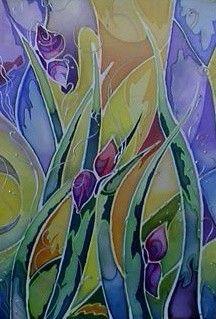 hot summer! batik, color, fabric painting
