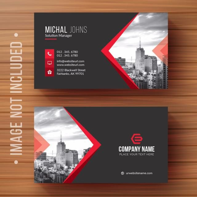 Black Business Card With Red Details Tvorcheskie Vizitnye