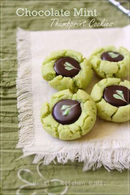 HESTI'S KITCHEN : yummy for your tummy: Chocolate Mint Thumbprint Cookies