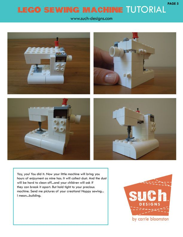 My LEGO sewing machine tutorial here! #LEGO #tutorial