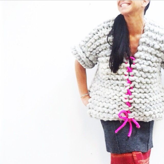 Loopy Mango - Couture Knitting. Would look great in chunky crochet too.