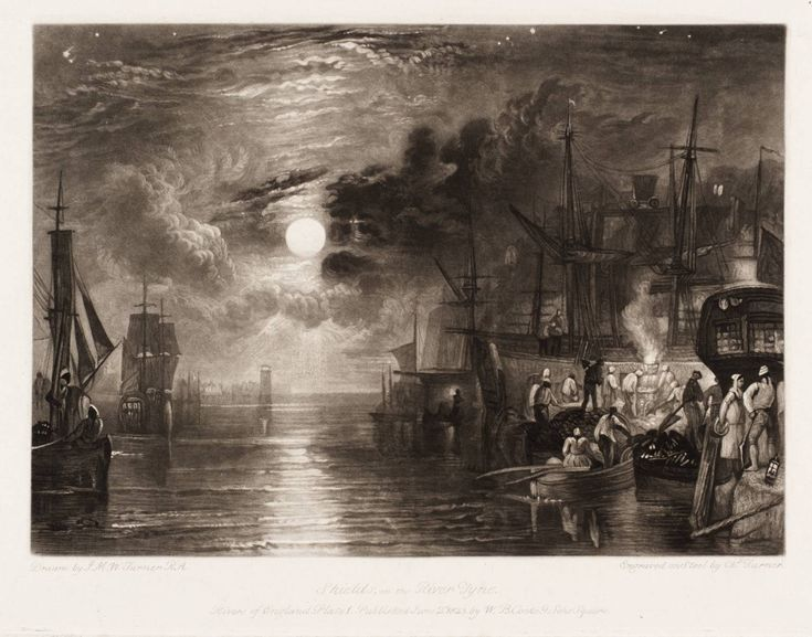 Shields, on the River Tyne, engraved by C.Turner