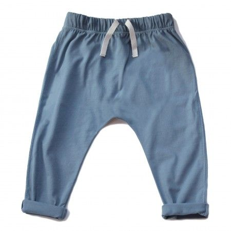 Blue summer trousers made of soft cotton - it combines sports style with elegance.