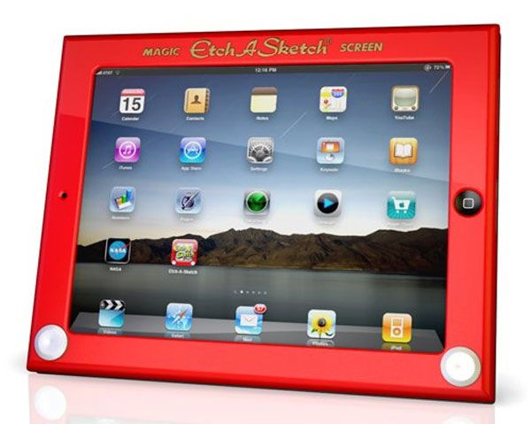 Etch A Sketch iPad Case: http://tinyurl.com/7mskxu5  $39.49 #iPad_Case #Etch_A_Sketch