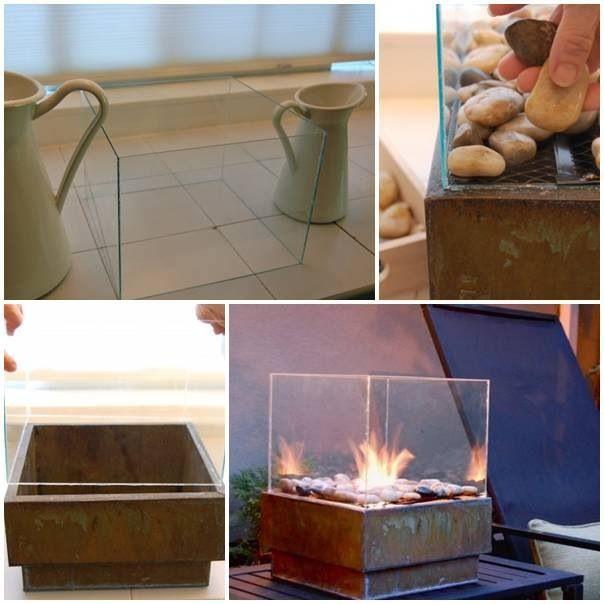 Mini fire pit DIY