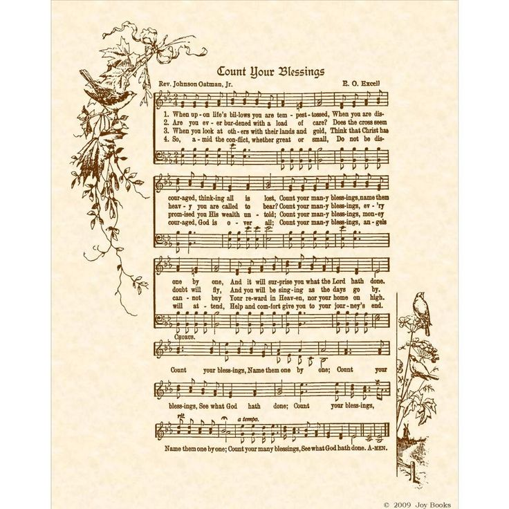 Lyric count your blessings hymn lyrics : Count Your Blessings | Old Hymns | Pinterest | Home, Count and ...