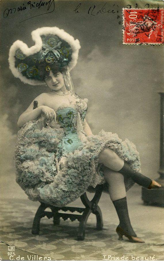 Vintage French Postcards | Vintage French hand tinted photo postcard - Actress Carmen de Villers ...