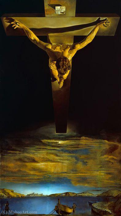 cristo de san Juan de cruz , óleo sobre lienzo de Salvador Dali (1904-1989, Spain)