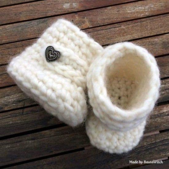 75 besten baby booties Bilder auf Pinterest | Gehäkelte slipper ...