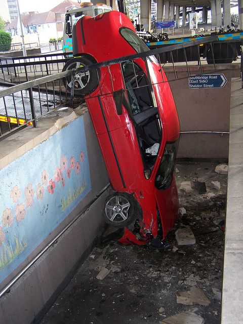 How I felt after the accident, you wouldn't think that a retaining wall would do that much damage.