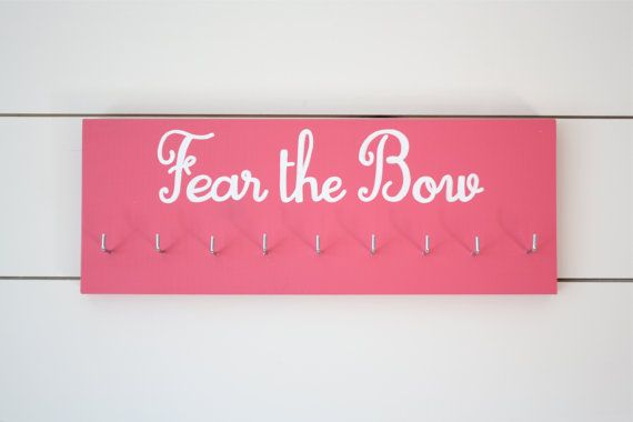 Hey, I found this really awesome Etsy listing at https://www.etsy.com/listing/86171548/fear-the-bow-medal-holder-medium