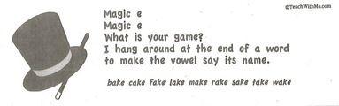 magic e activities, silent e activities, magic e poster, silent e poster, magic e anchor chart, silent e anchor chart, magic e bingo, silent e bingo, magic e word cards, silent e word cards, magic e word list, silent e word list,