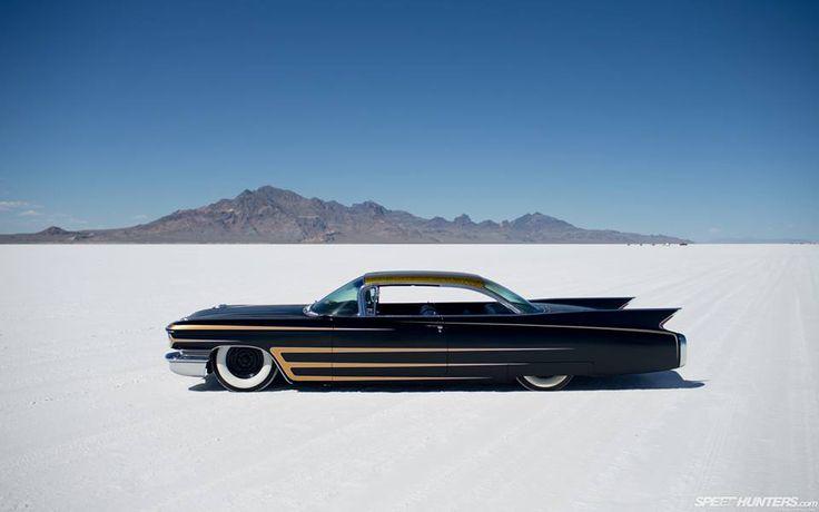 Cadillac on the Salt Flats
