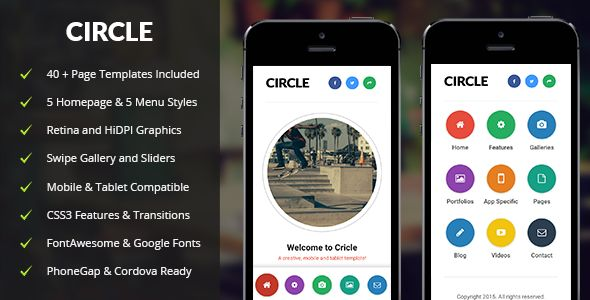 Circle | Mobile & Tablet Responsive Template