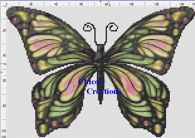 Butterfly Cross Stitch Pattern